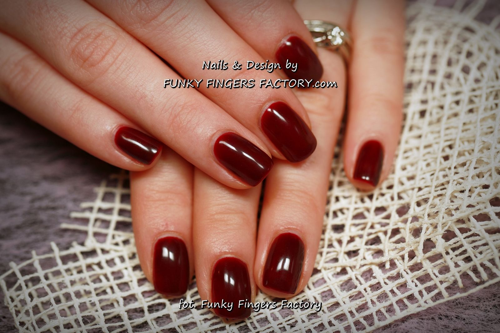 Gelish Classic Burgundy Nails A TOUCH OF SASS by www ...
