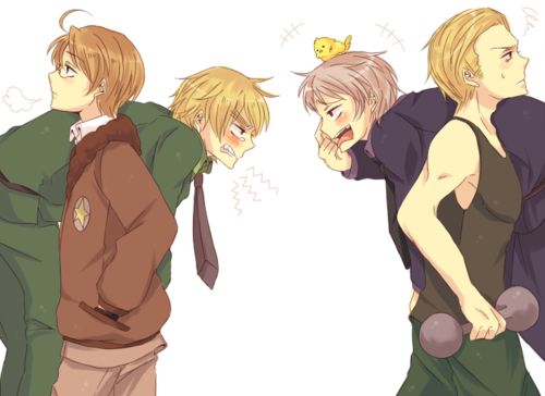 Headcanon that England and Prussia always get into really stupid