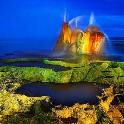 Fly Geyser, Nevada, by Daniel Newton #photo