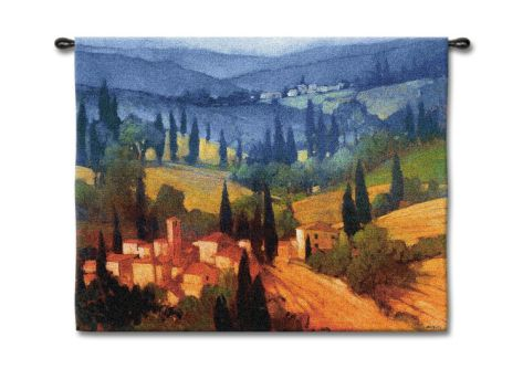 Tuscan Valley View Wall Tapestry by Philip Craig at Art.com