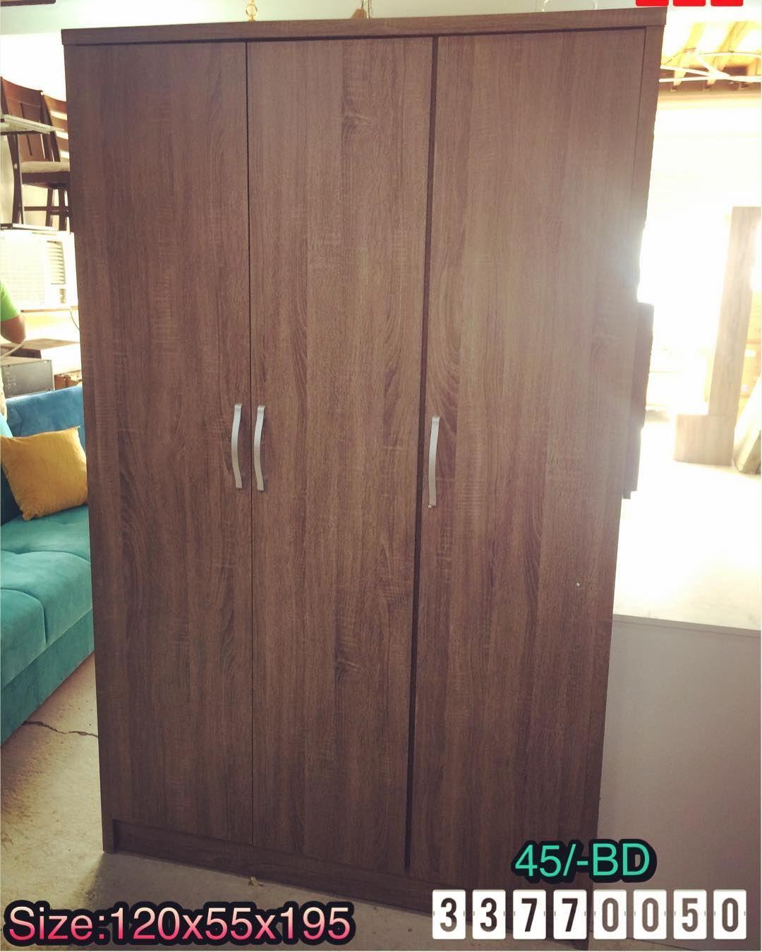 For Sale Cabinet 3 Door Size 120x55x195 Wood Brown Color New Price 45 Bd للبيع كبت ملابس 3 ابواب خشب لون بني جدي Cabinets For Sale Brown Color Color