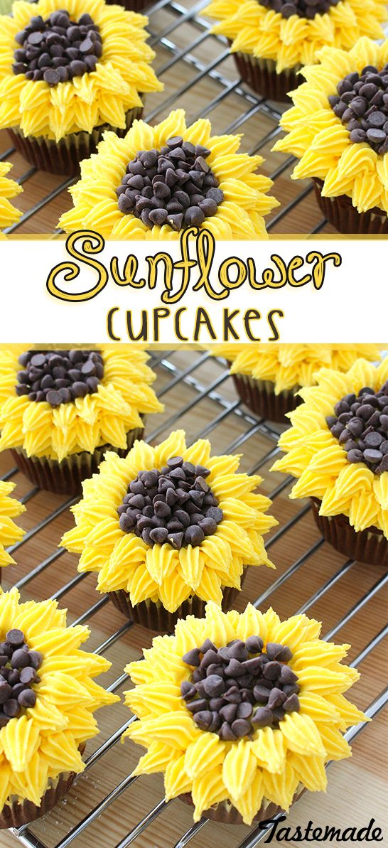 Much more delicious than an actual bouquet of flowers, these cute cupcakes are an easy way to impress your friends!