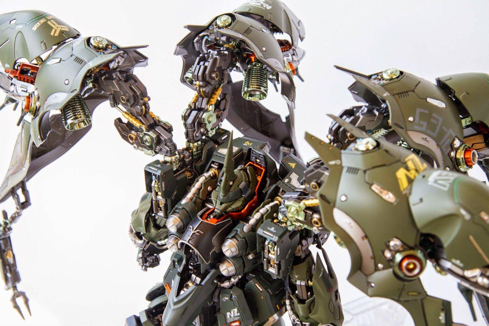 Custom Build: Elyn Hobby 1/100 NZ-666 Kshatriya + LED - Gundam Kits