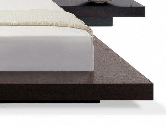 Lit Design X Cm Cadre Avec Chevets Intégrés En Bois Tête - Cadre de lit avec chevet