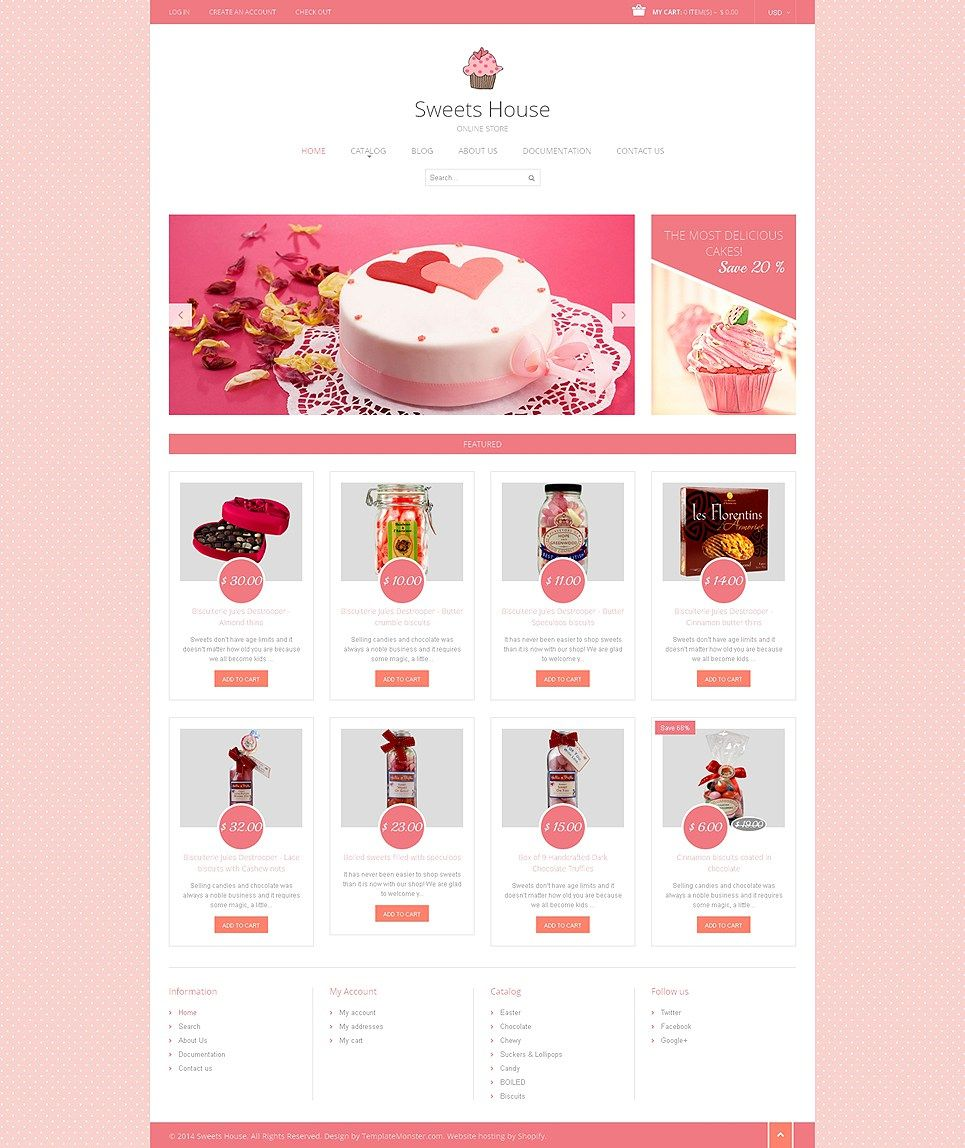 The Sweetest Cupcake Cake Decoration Store Themes For Shopify Buildify Shopify Templates Shopify Theme Restaurant Website Design