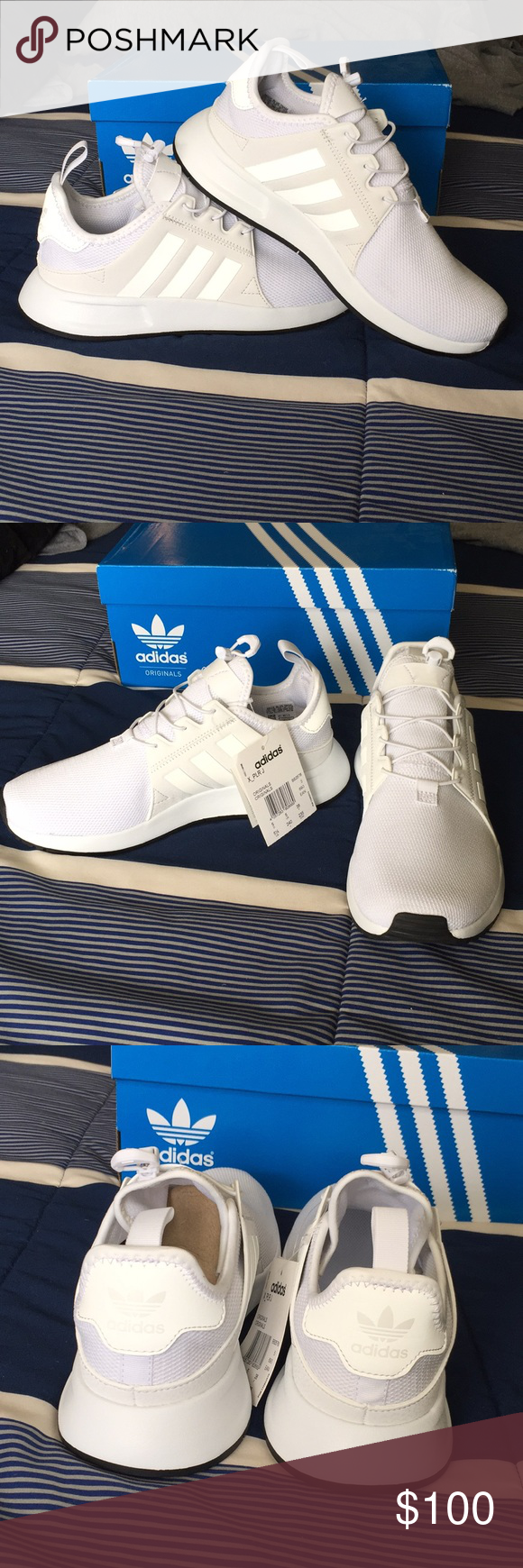 Adidas X plr J Kids Trainers in White UK size 5 New with box. Size 5UK kids    size 8 women s US. I am a size 8 in women s and these were too ... 97184f3ed