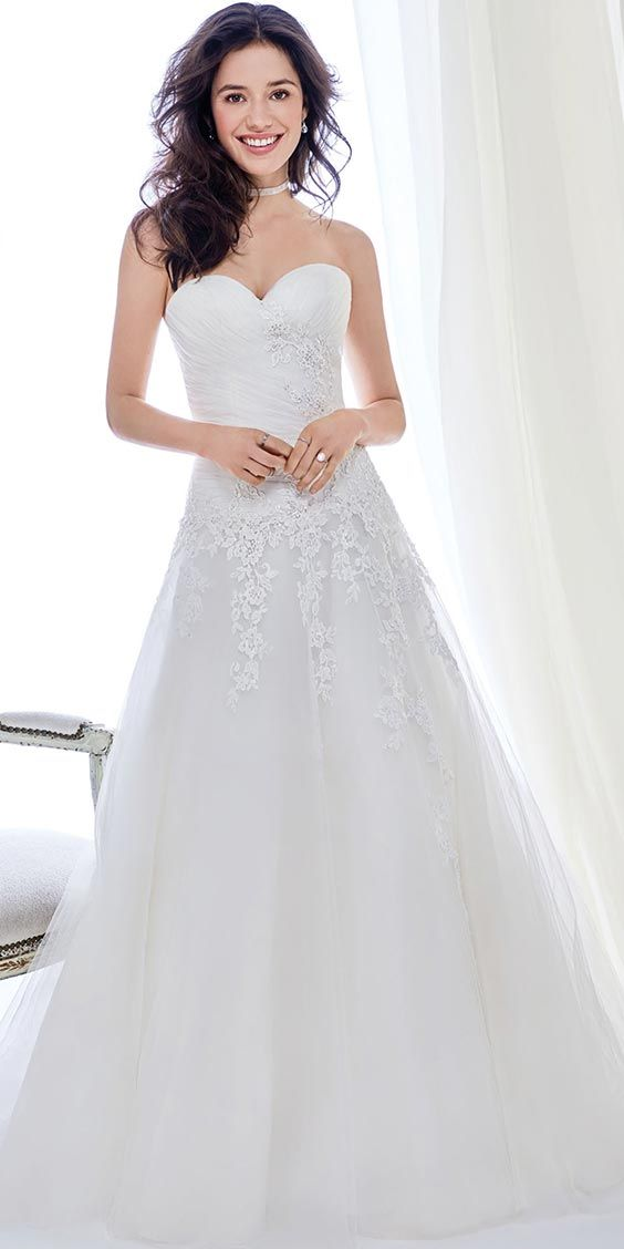 Ella Rosa BE411 | classic lace ball gown | sweetheart neckline ...