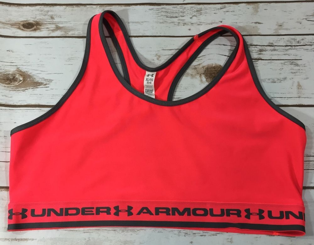 d94f92ae8a Under Armour Gotta Have It Womens Racerback Sports Bra Neon Pink Gray XL  38-40
