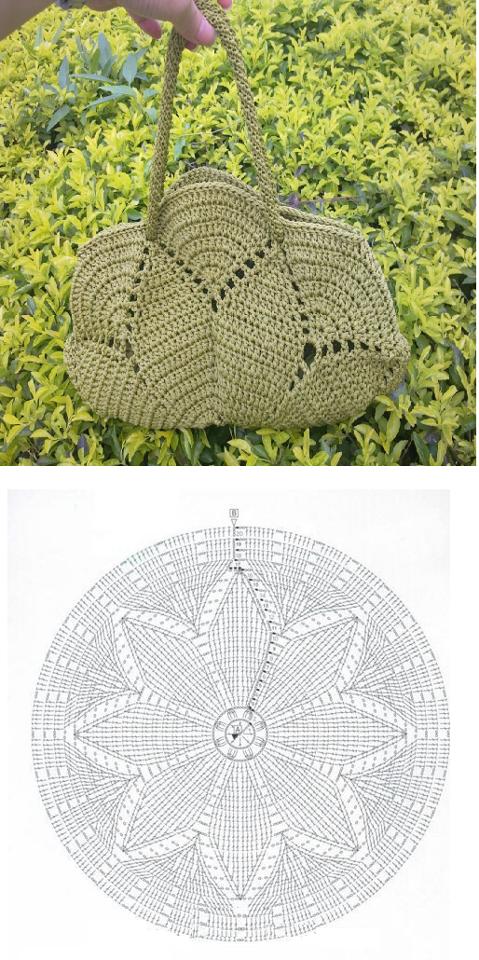 Patron Crochet Bolso con Circulo - Patrones Crochet | crochet ...