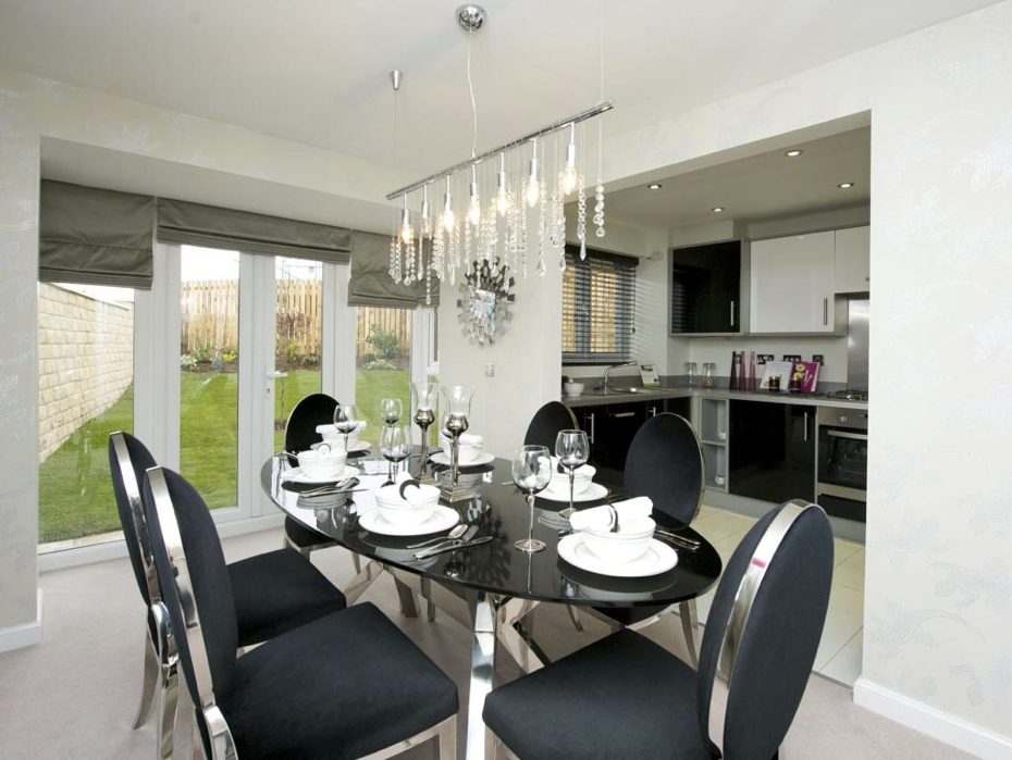 Barratt Homes - Gloster Gate (Newcastle Under Lyme) - Interior Designed Kitchen Diner.  #palegreyinterior