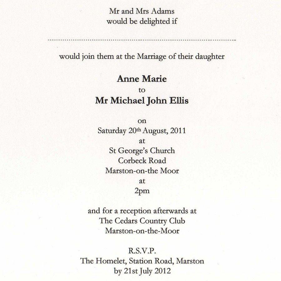 wedding invitation wording ideas from bride and groom | wedding ...