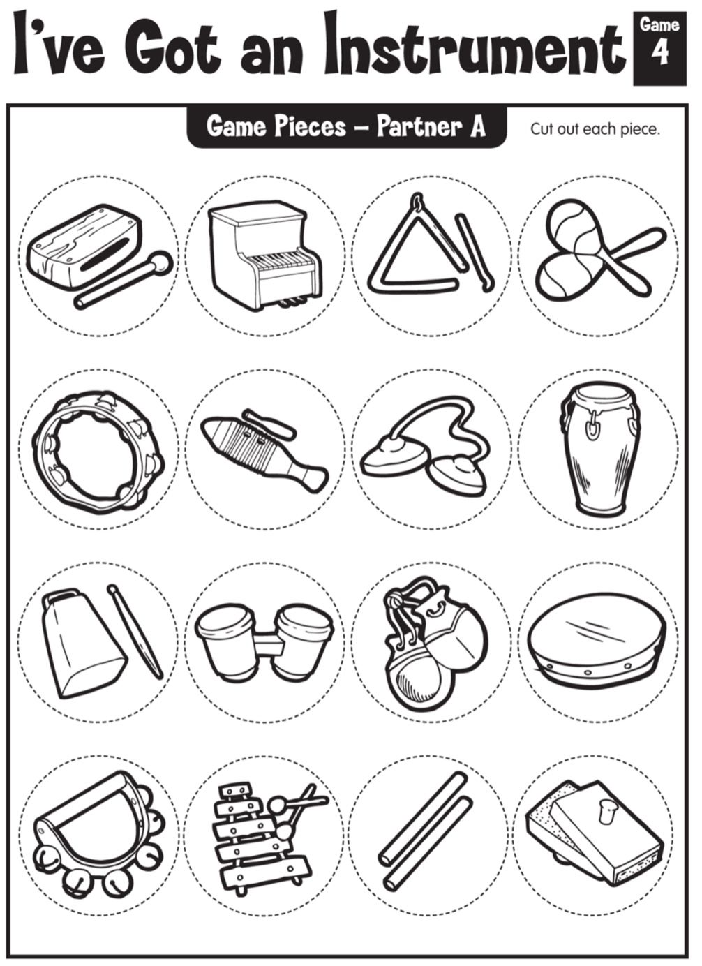 Pin By Iris W On A Musical New Year Kindergarten Music Elementary Music Instruments Music Worksheets