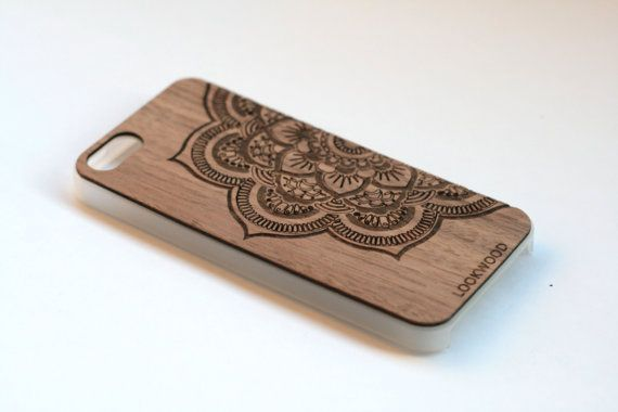 Wood iPhone 6/5/5s/4/4s Wood Case. MANDALA by LOOKWOODspectacles