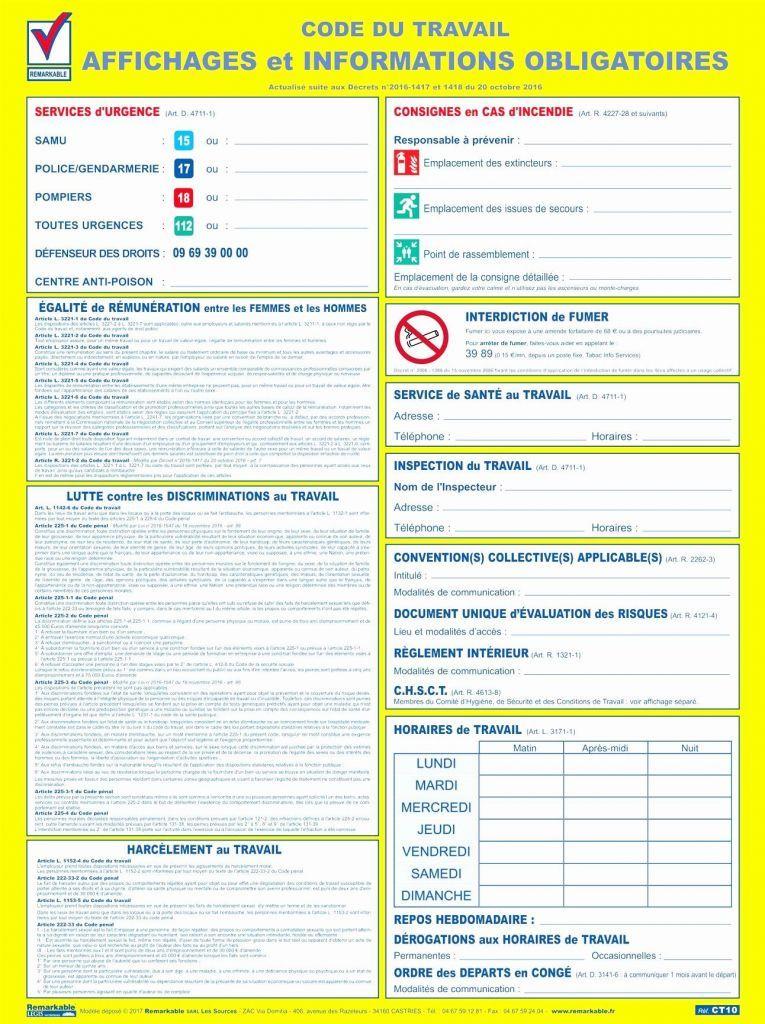 Affichage Obligatoire Code Du Travail Gratuit Pdf Unique Affichage Obligatoire Code Du Travail Gratuit Pdf Collect Affichage Droit Du Travail Panneau Affichage
