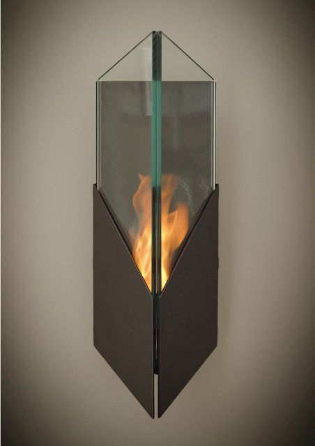 Pure Wall Mounted Bio Ethanol Torch · Modern FireplacesOutdoor ...