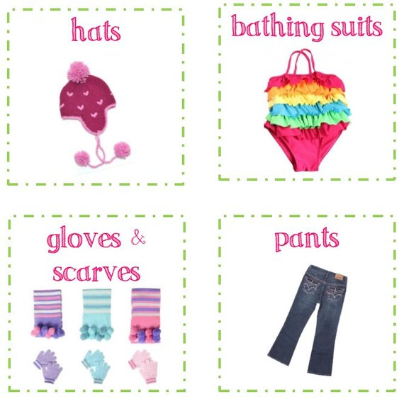 12 Kids room organization labels - PRINTABLE labels for clothes or