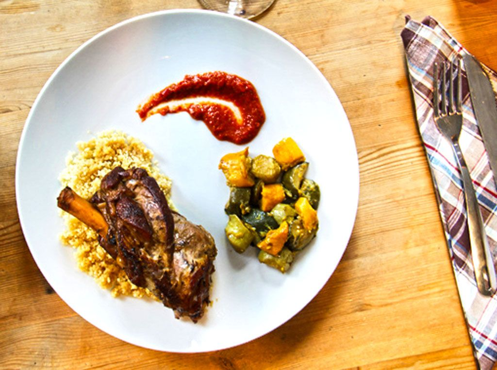 Lamb shank couscous with courgettes and hand made harissa food forumfinder Image collections