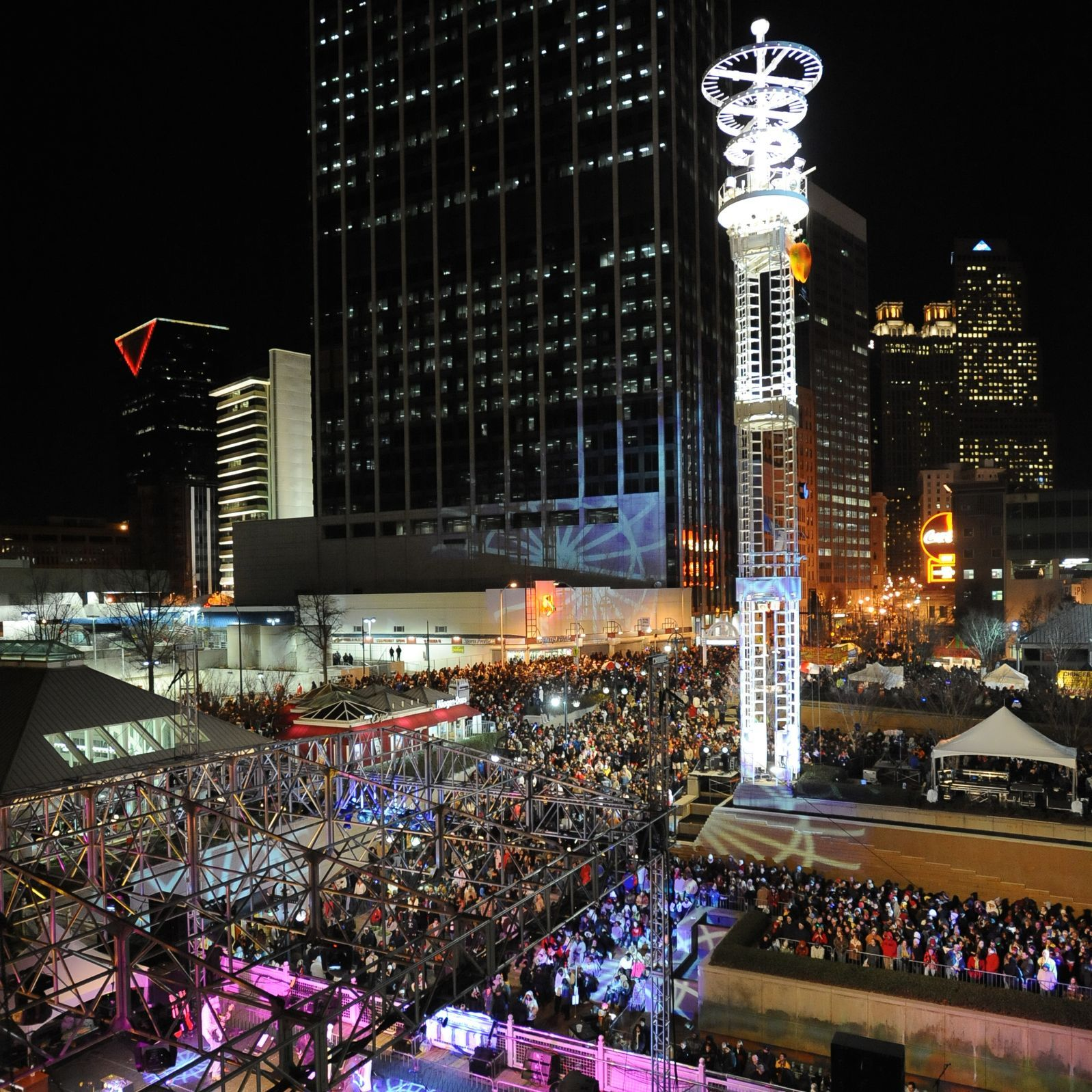 The annual Peach Drop in Atlanta is the largest New Year's