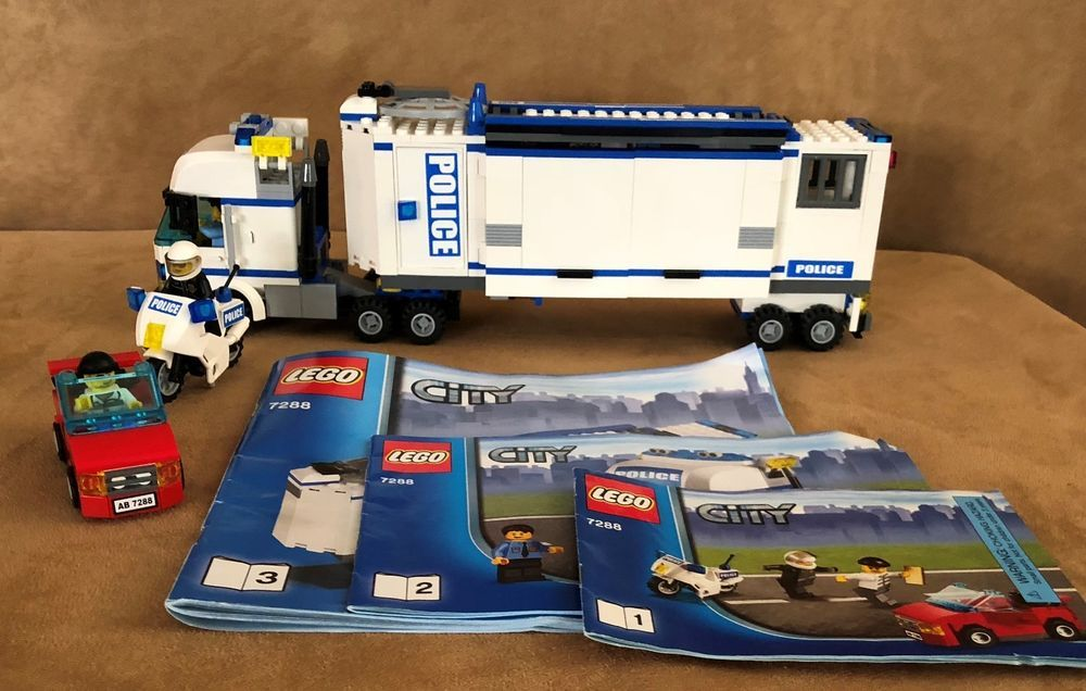 7288 Lego City Police Truck Mobile Unit Complete Instruction