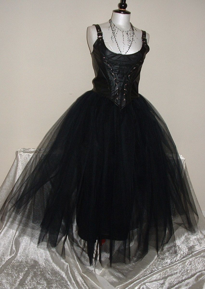 Skirt tutu womens black fully lined massive net toile gothic