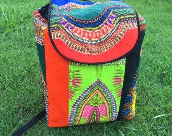 Frais de port... Dashiki sac à dos... multi couleur sac à dos... Sac à dos en Afrique