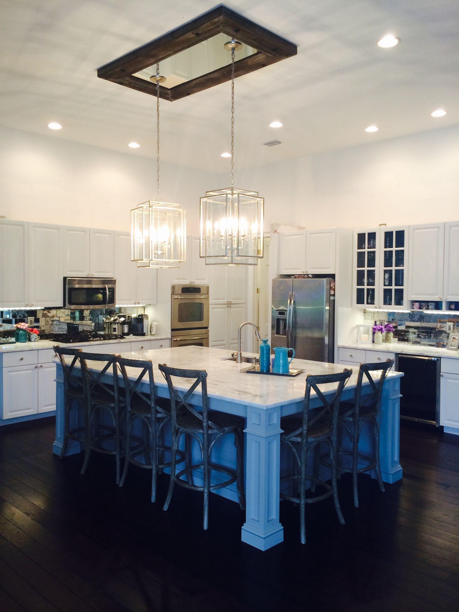 Mirror Ceiling Medallion For Light Fixture Kitchen Lighting Fixtures Ceiling Dining Light