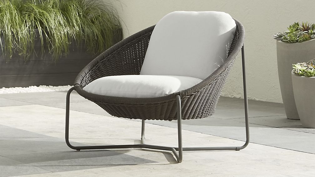 Attrayant Morocco Charcoal Oval Lounge Chair With Cushion | Crate And Barrel $509  Prefer All White Chair For Area .. 35 . 36 X 30 H