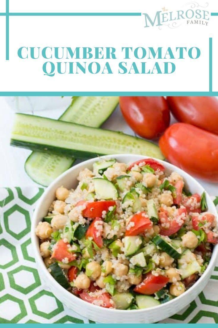Cucumber Tomato Quinoa Salad-The Melrose Family: Recipes, Crafts & Parenting Resources This cucumbe