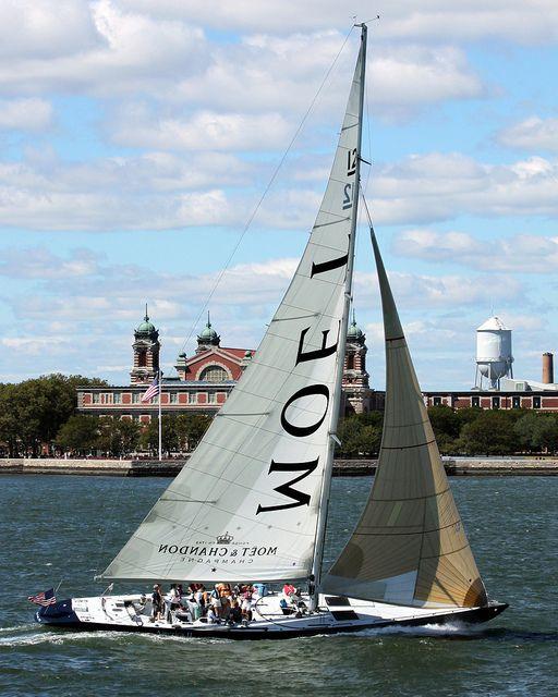 Sailing accross Ellis Island  http://turksail.com.tr