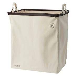 Laundry Bag Target American Vintage Divided Laundry Sorter  Cream Canvas Black