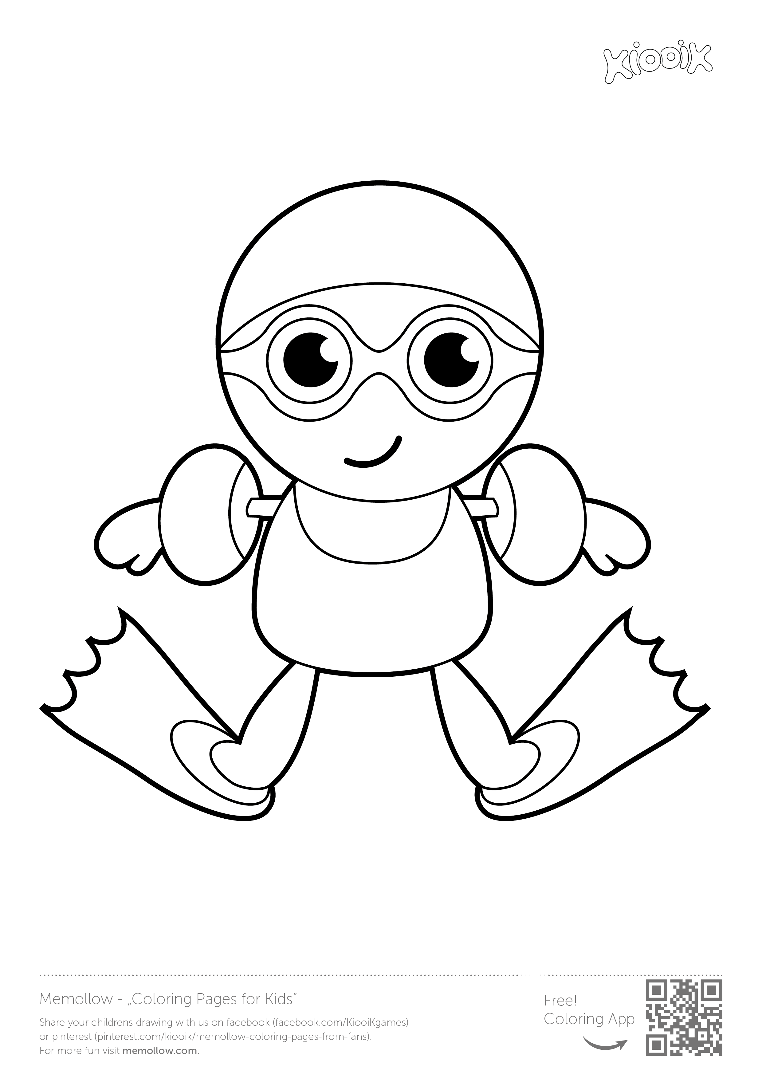 u0026quot swimmer u0026quot   memollow to print  coloring pages for  kids printables