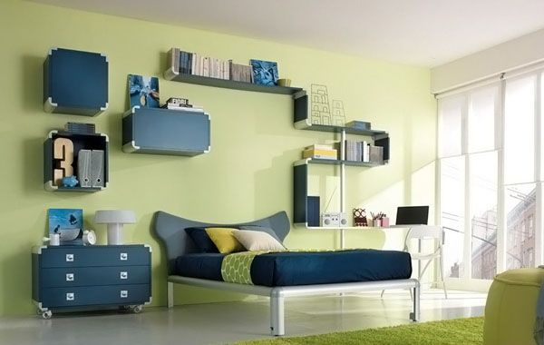 Kids Room, Wonderful Wall Shelving Ideas And Contemporary Sideboard ...