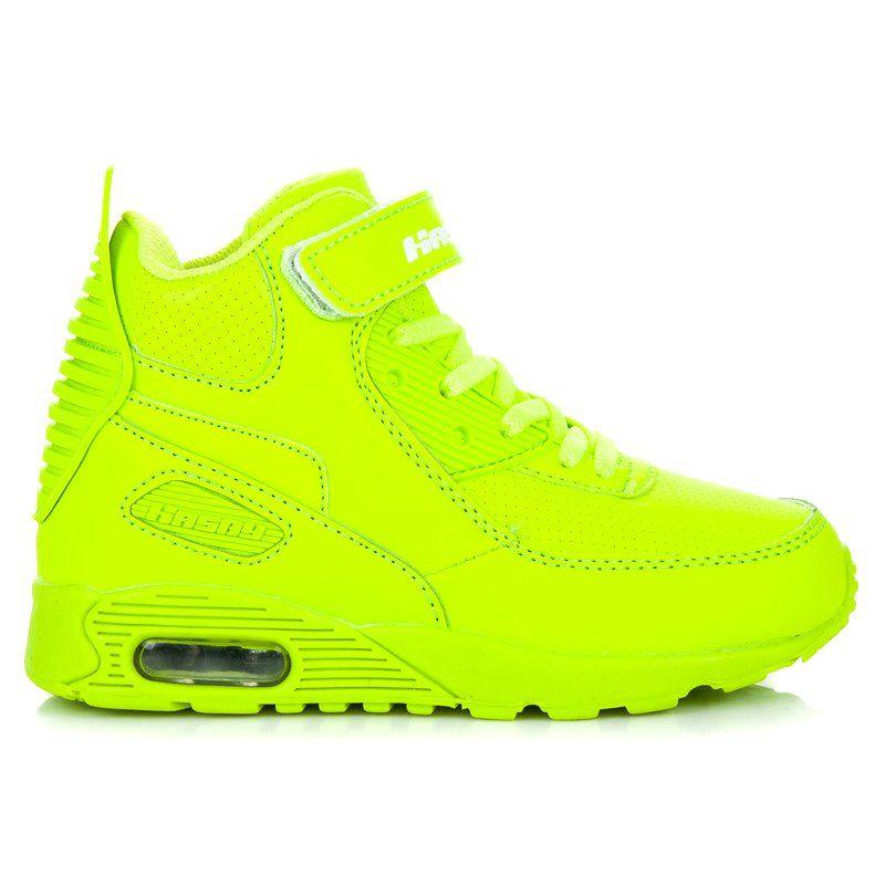 Hasby Neonowe Buty Nad Kostke Zielone Air Max Sneakers Sneakers Nike Nike Air Max