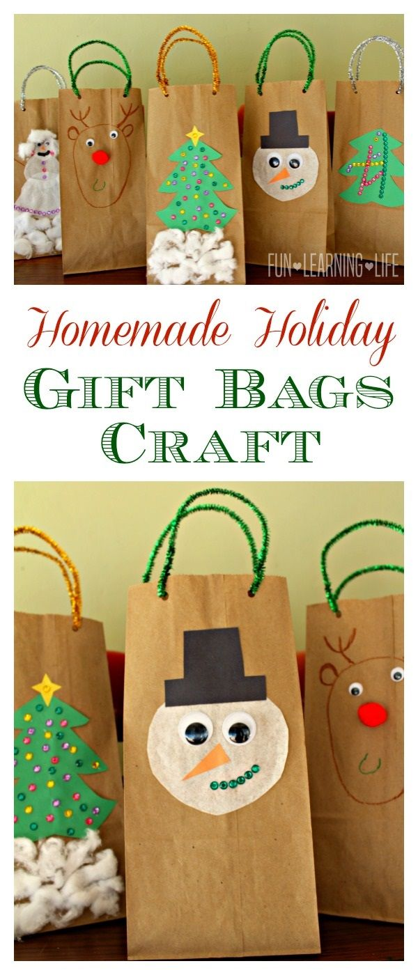 Homemade Holiday Gift Bags Craft | Pinterest | Snowman, Homemade and ...