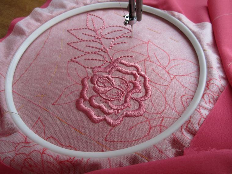 A bordar en la máquina de coser | bordados dos | Pinterest ...