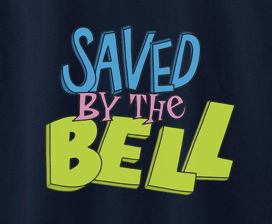 Saved By The Bell Logo Tee T Shirt 90s Tv Shows Tv Show Logos Saved By The Bell