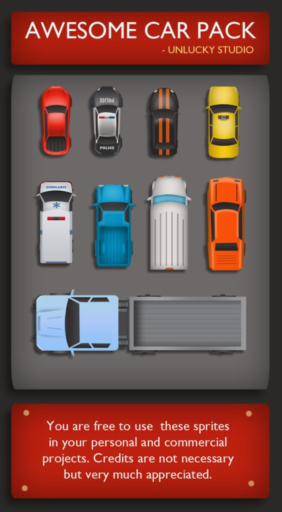 Game Art Giveaway #7 – Top Down Vehicles Sprites Pack | 2D