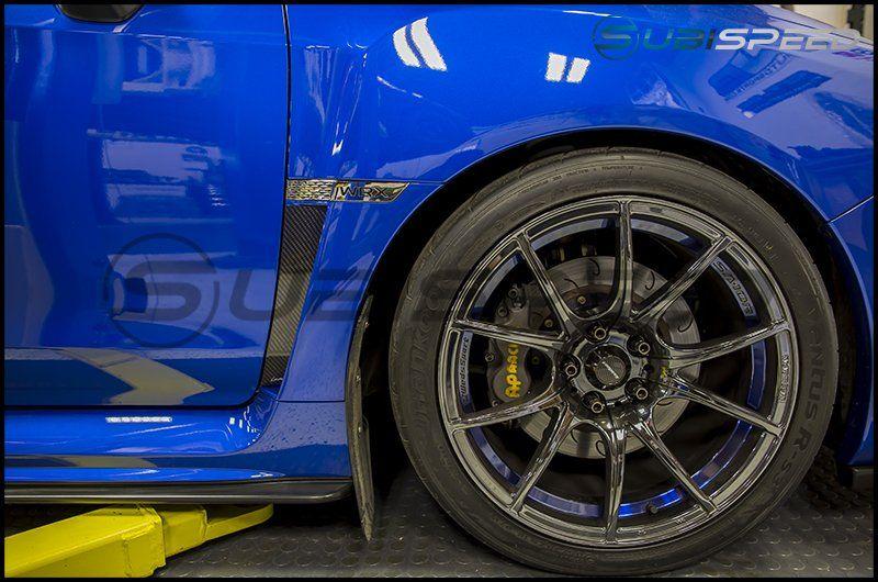 OLM S-line Dry Carbon Fiber Fuel Door Cover - 2015+ WRX