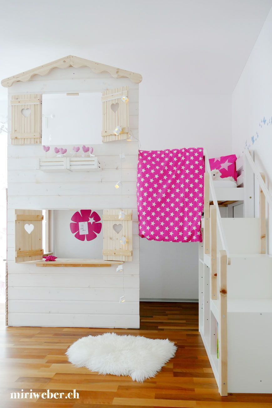Excellent Screen DIY HIGH BED HOUSE Strategies An Ikea kids' room ...