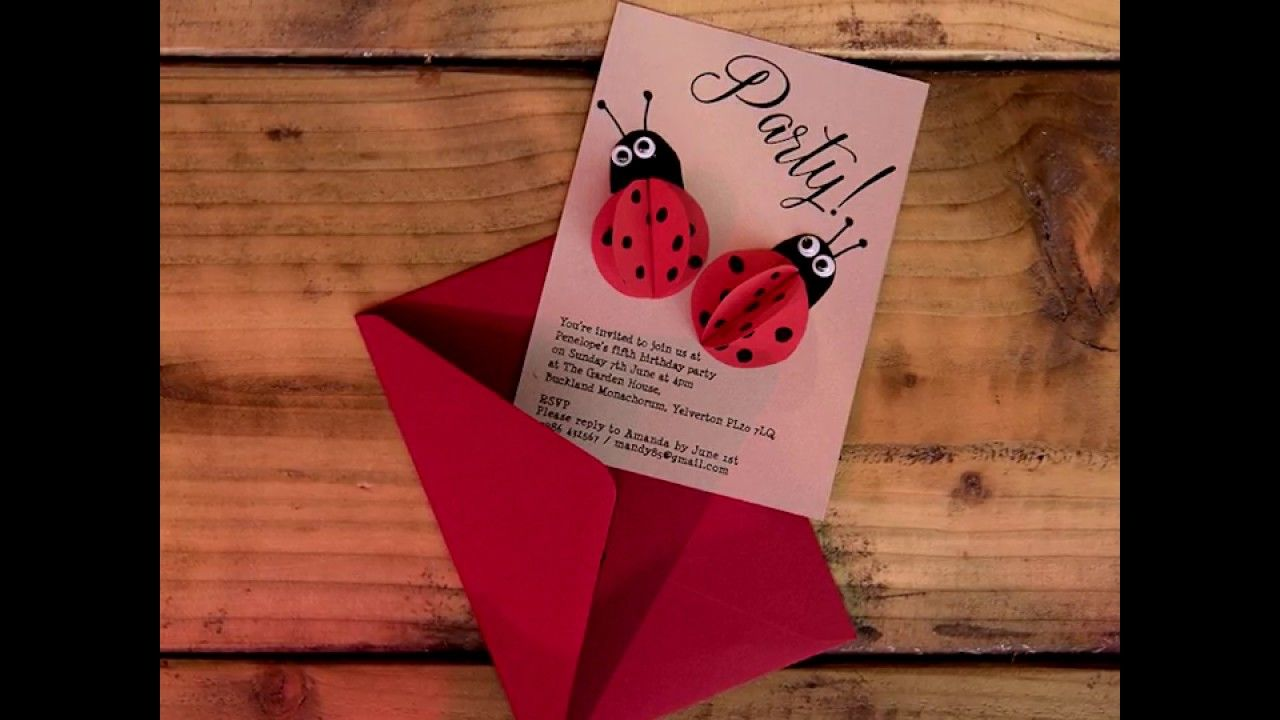 Ladybird Printable DIY Kids Party Invitations Adorable Printable DIY ...