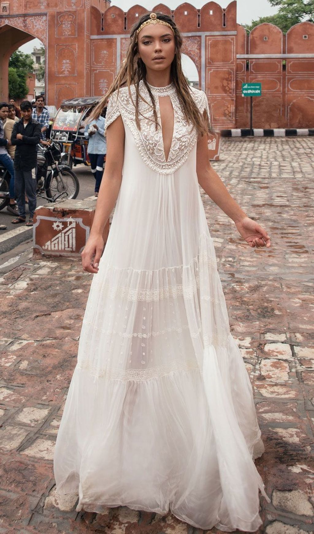 20+ Adorable Bohemian Wedding Dress Ideas To Makes You Look Stunning