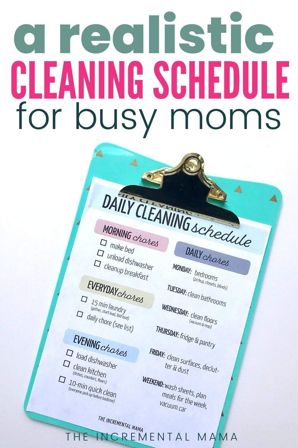 simple printable cleaning schedule for working moms in on fast and easy ways to refresh your home on a budget id=18616