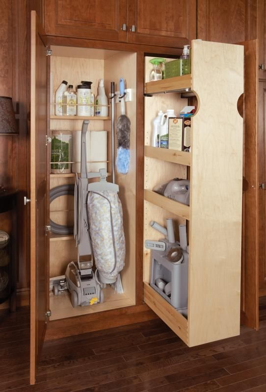 Built In Cleaning Storage With Room To Organize Everything