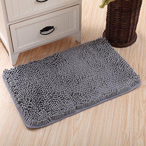 Sfoothome Non Slip Microfiber Bath Mat Bathroom Mats Shower Rugs