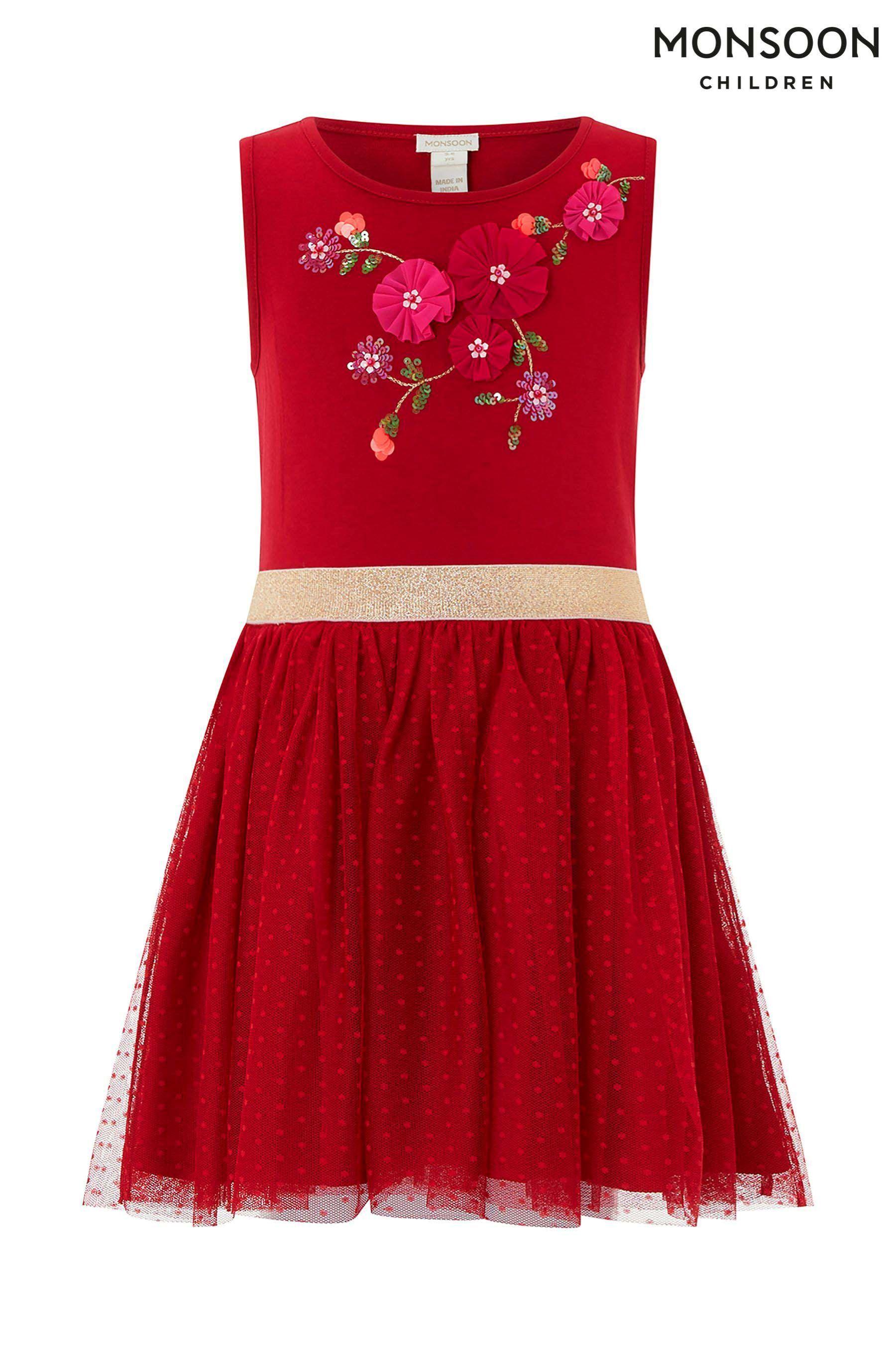 63c9f48d7 Girls Monsoon Dory Dress - Red