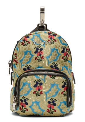 Miu Miu Multicolor Tapestry Chain Backpack   unusual backpacks ... e2af7622b6