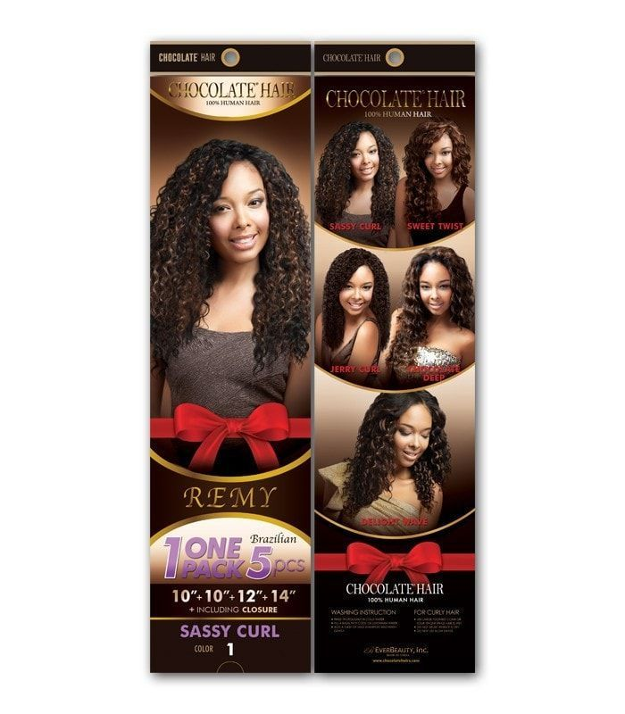 Chocolate Hair Remy Human Hair One Pack 5 Pieces Sassy Curl