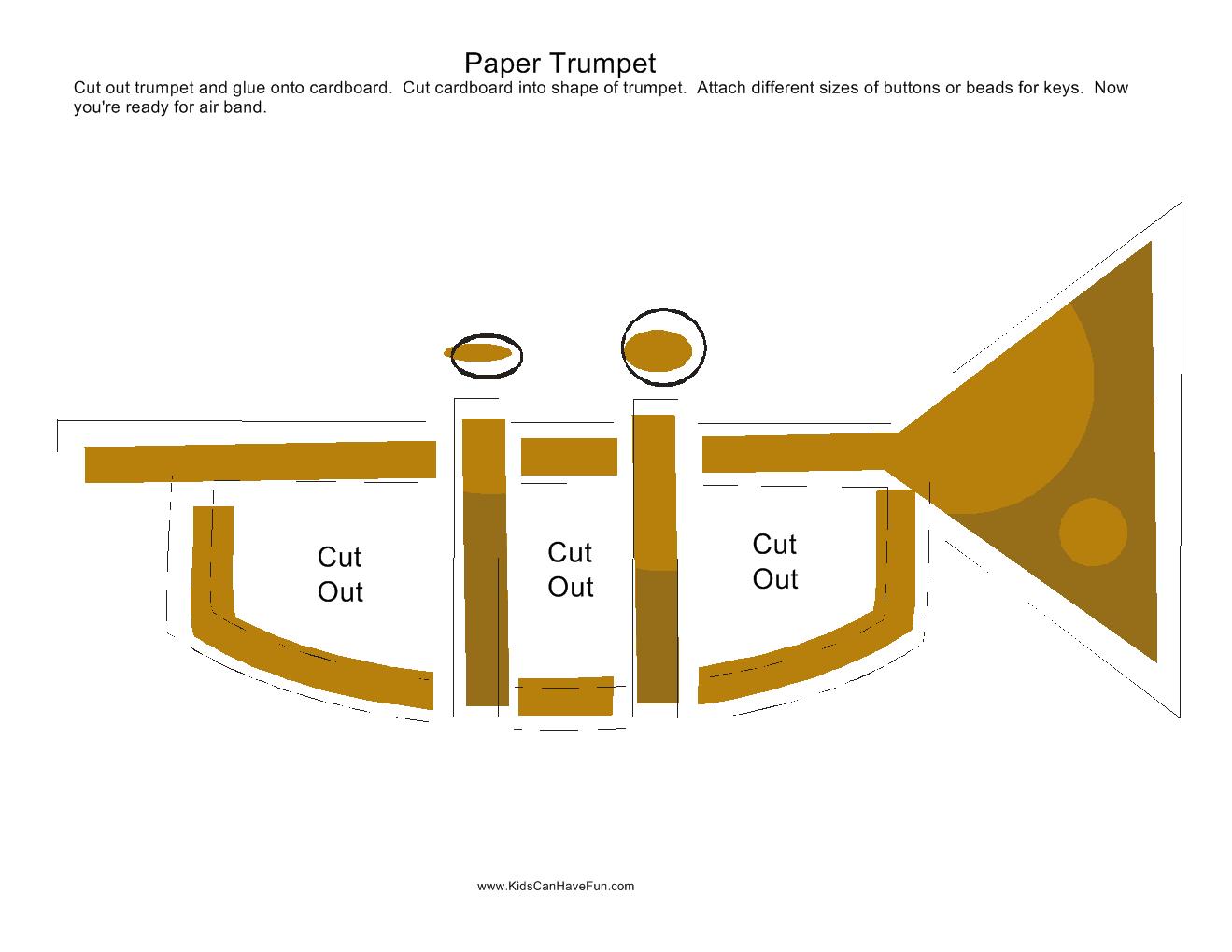 Paper Trumpet Craft