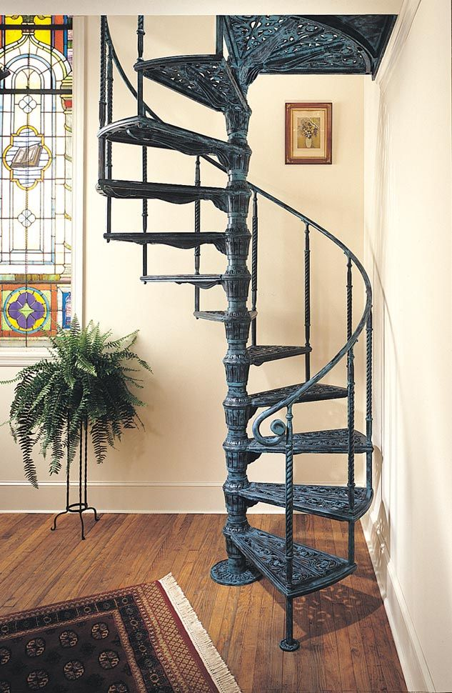 Shop Victorian Spiral Staircases The Iron Shop Spiral Stairs | Wrought Iron Spiral Staircase | Wood | Gothic | Small | Mezzanine | Internal