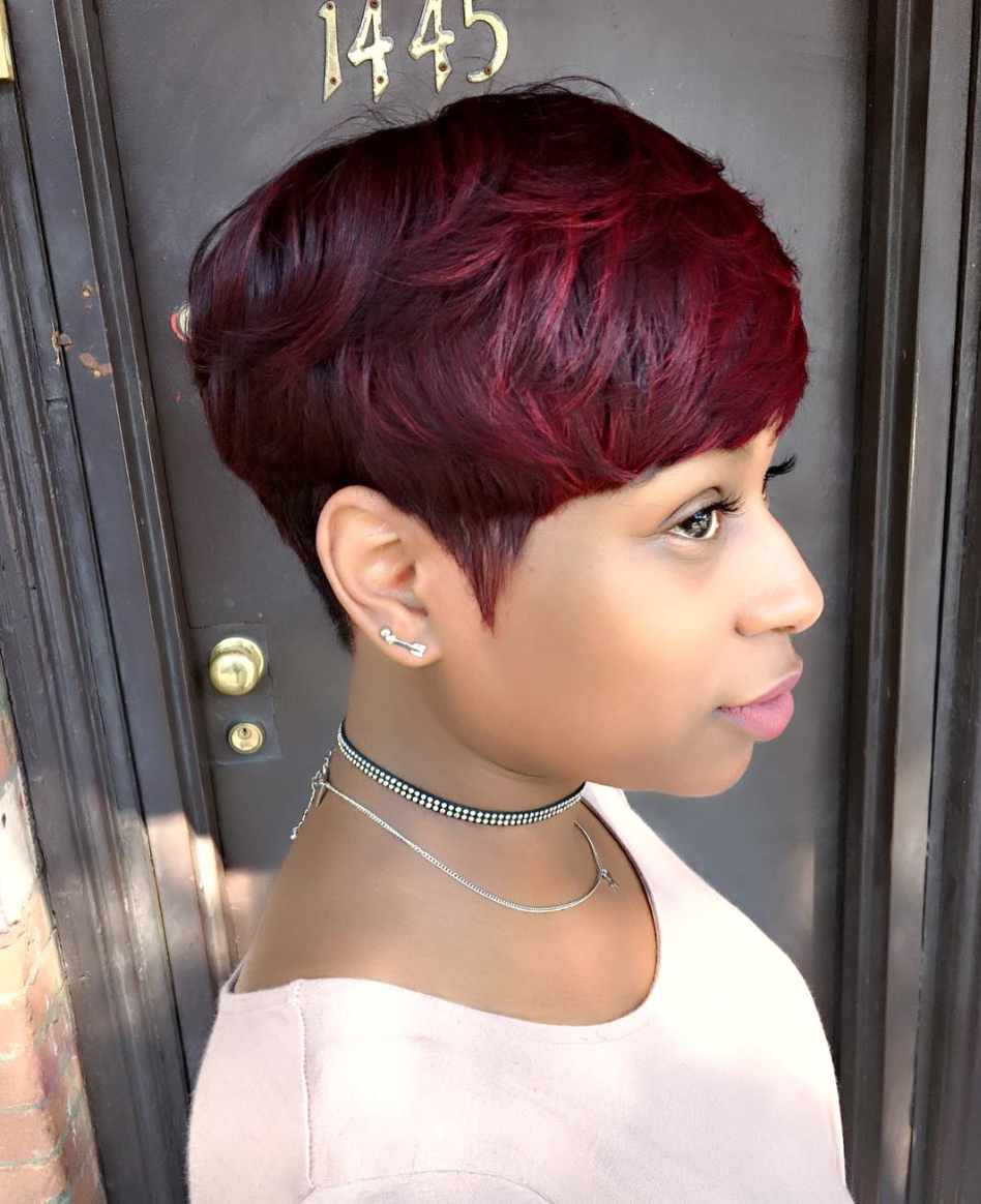 Mushroom Hairstyle short hairstyles for black women 2016 page 2 of 2 hairstyle curly mushroom haircut Find This Pin And More On Short Haircuts By Blackhairinfo